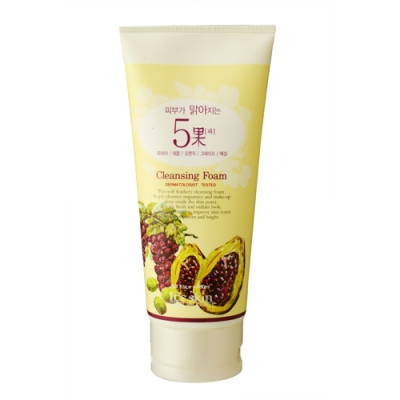 Skin Brightening 5 Fruits Cleansing Foam, 180ml, SGD15.00
