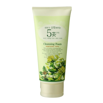 Skin Freshening 5 Teas Cleansing Foam, 180ml, SGD15.00
