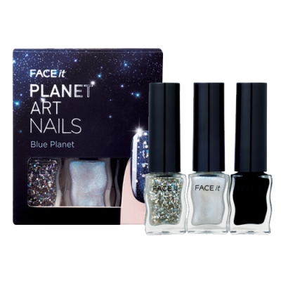 Face It Planet Art Nails 02 Blue Planet, 4ml each, SGD11.30