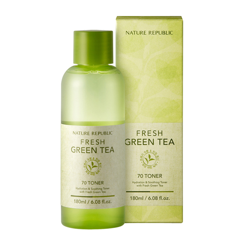 Fresh Green Tea 70 Toner, 180ml, SGD18.10