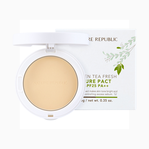 Green Tea Fresh Pure Pact SPF25 PA++ No.21, 10g, SGD21.50