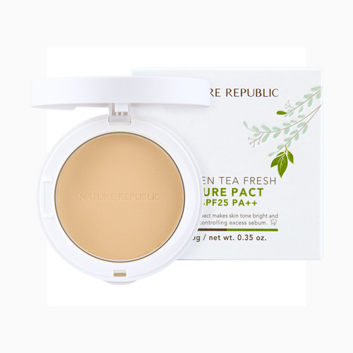 Green Tea Fresh Pure Pact SPF25 PA++ No.23, 10g, SGD21.50