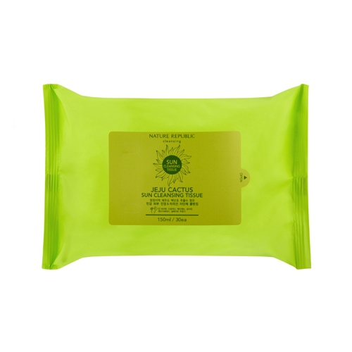 Jeju Cactus Sun Cleansing Tissue, 30 sheets, SGD9.60