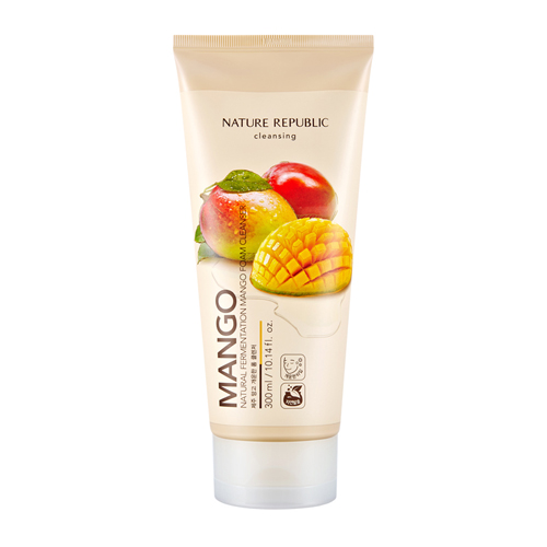 Natural Fermentation Mango Foam Cleanser, 300ml, SGD26.80