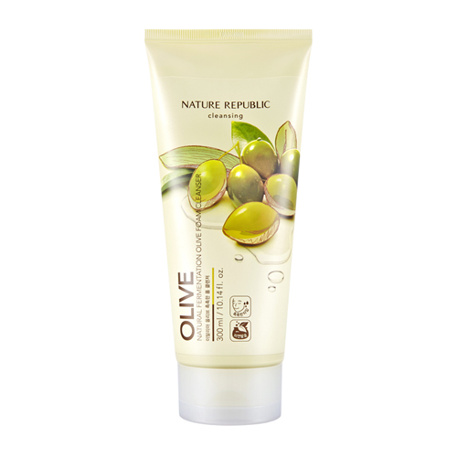 Natural Fermentation Olive Foam Cleanser, 300ml, SGD26.80